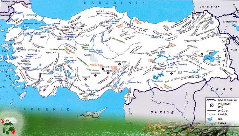 Türkiye, akarsu, göl, baraj