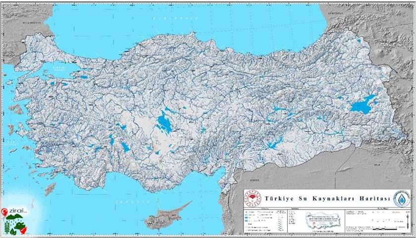 Türkiye su haritası